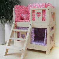 Top grade newly design two layers wooden dog bed wooden dog house furniture