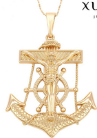trendy charm Gold Plated Cross pendant