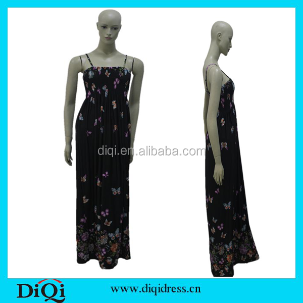 Magnetic Women Clothes/Woman Clothing, Butterfly Printed Women Dresses, Sexy long Dress Maxi Dresses