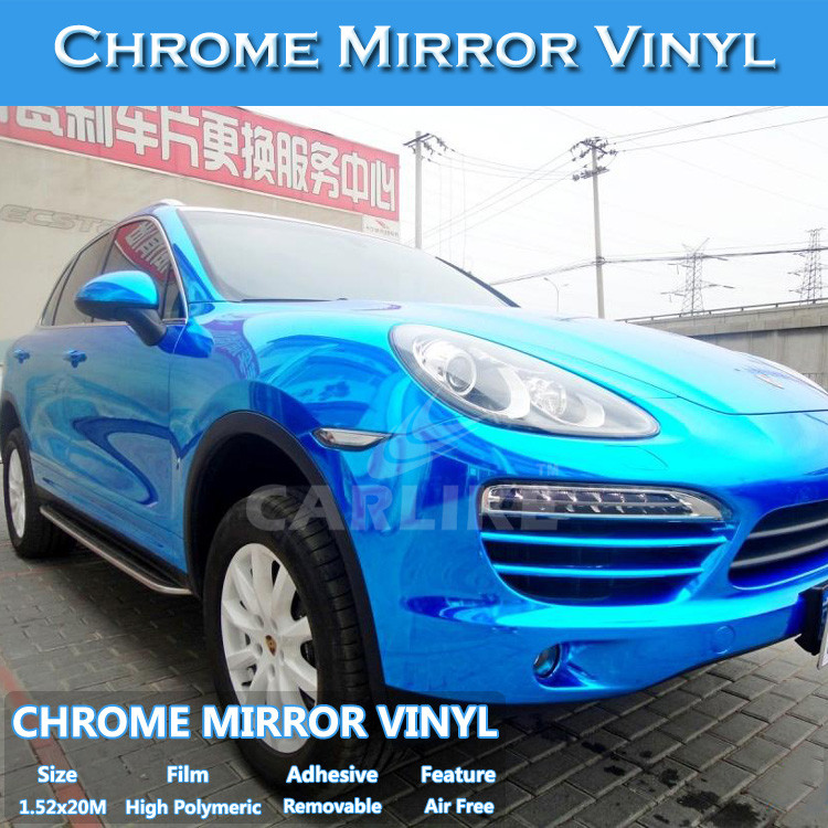 High Quality Flexible Self Adhesive Vinyl Chrome Brushed Film Metal Car Wrap