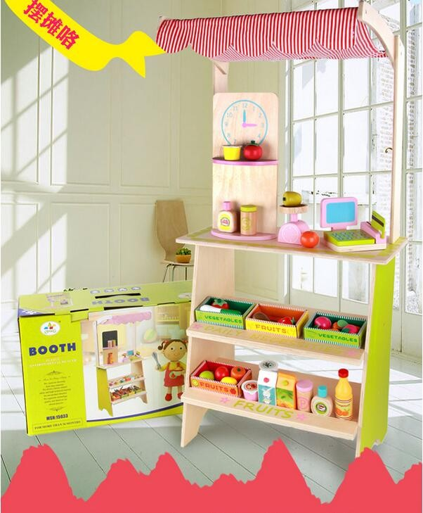 children toys new 2016 style Supermarket combination supermarket checkout stalls children house simulation toys kitchen play set