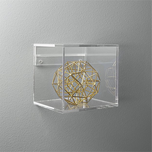 art gallery display case clear acrylic art holder wall mounted box