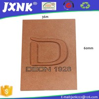 Popular jeans leather patch labels for clothing