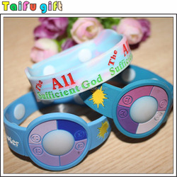 Promotion gifts cheap rubber Solar UV discolor wrist band maker