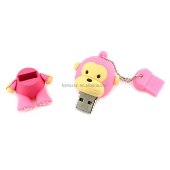 Tomax factory custom pink moneky design usb flash stick drive