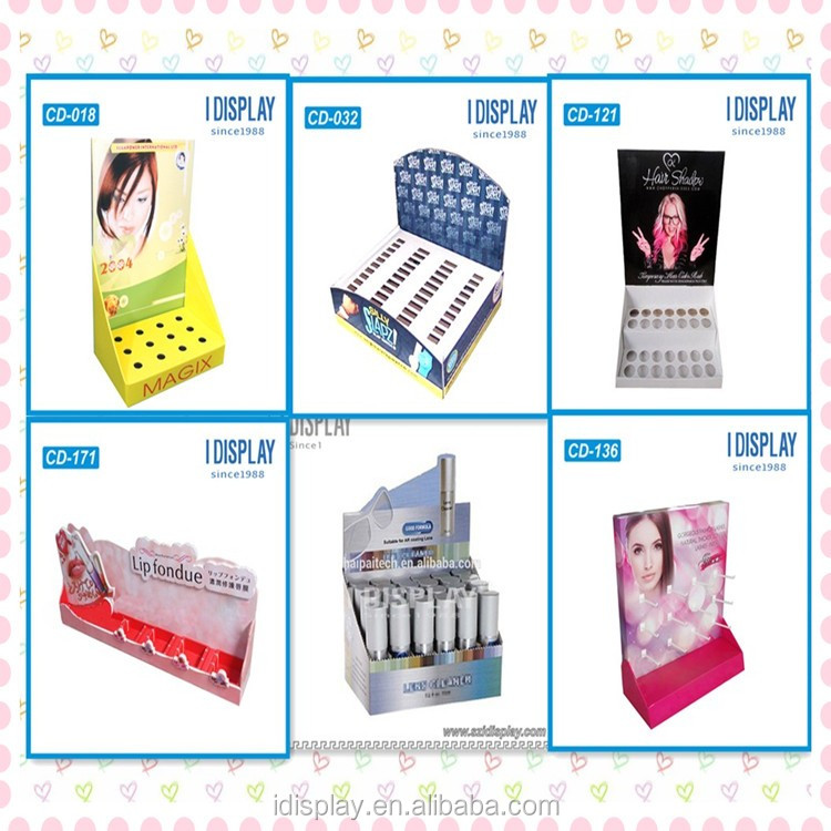 Customized tabletop cosmetic display stand for lipsticks
