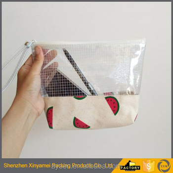 transparent pvc cosmetic bags with zipper/transparent pvc cosmetic bag with zipper/Cosmetic Bag With Zipper Closure