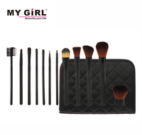 2016 MY GIRL New Professional Cosmetic Makeup Brush Set Foundation Powder Eyeliner Brushes, Make up Tool Kit Christmas Gifts