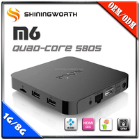 Orignal Shiningstar mxq Amlogic S805 Android 4.4 kodi smart tv box quad core live streaming media box