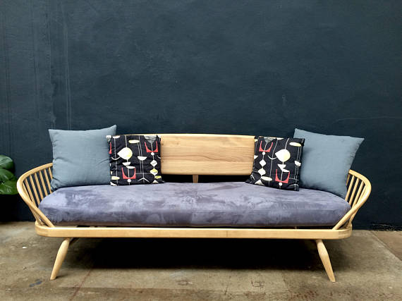 Studio Sofa Bed Day Bed Wood Frame Legs Sofa