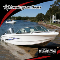 small aluminum speed runabout motor boat
