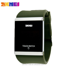 SKMEI 0983 Men Women Digital Silicone Touch Screen LED Wristband Watches