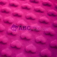 2016 hot salling MOQ 50MTS Oeko-tex and SGS heart embossed minky fabric MH20151130002