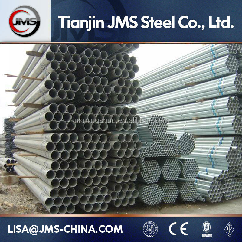 Supply Hot dipped galvanized round welded steel pipe/tube zinc volume:210-320g
