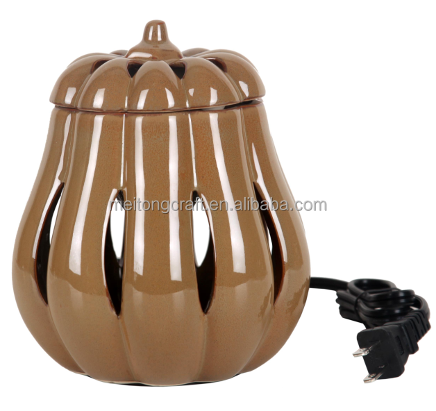 4''*6'' Pumpkin shaped Ceramic electric wax melter wax warmer