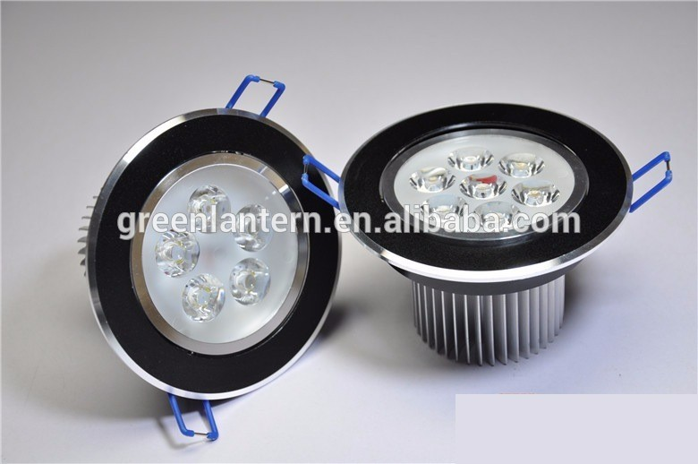 high quality indoor outdoor Black shell Round led ceiling downlight Black Cover 3W LED Downlight