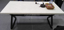 Polished Healthy Marble Vein Carrara White Office Countertops