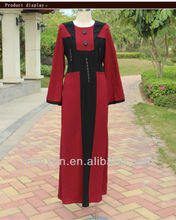 Middle East Colored Abayas Long Evening Dress for Muslim