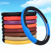 Wholesale PU Leather Universal Car Steering Wheel Cover For Car