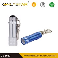 Timely service aluminum flashlight chinese 3led mini led keychain torch