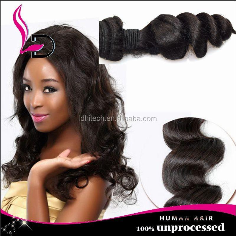 Best Selling Peruvian Human Hair Weave Virgin Soft Tangle Free Good