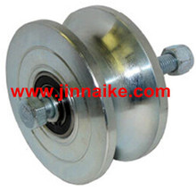"iron Q235 Heavy Duty 5"" Pipe Track Wheel/pulley supplier"