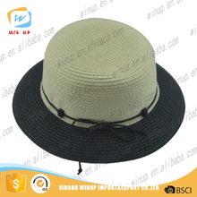 Winup Fashion straw mini cowboy top hats men folding straw hats for golf