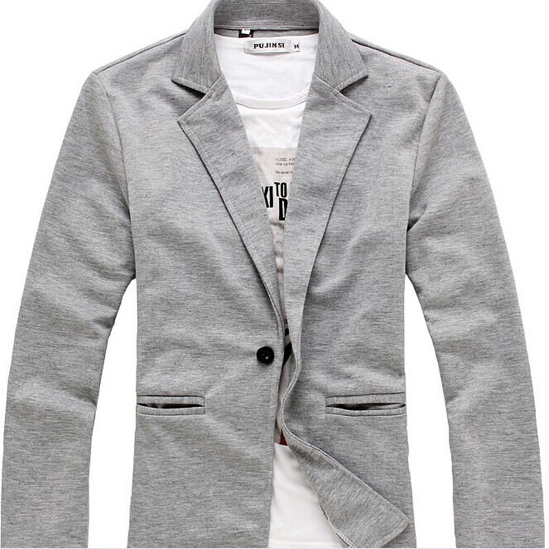 latest hot sale England style fashion one button design slim men jersey casual blazer