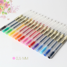 0.5mm Colour Ink Pen Maker Pen School Office Supply Muji Style 12 Colours