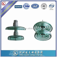 U120 toughened glass insulator high voltage Glass disc insulator