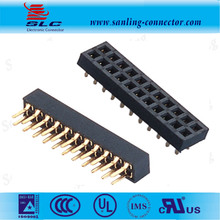2*16Pin Dual Row Straight/SMT 1.27*2.0*2.54mm Pitch 2mm Female Header Connector