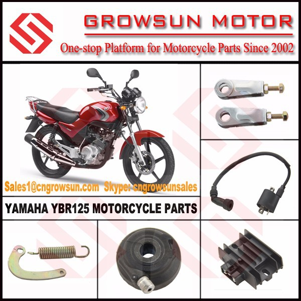 Yam. YBR125 Motorcycle Parts/Chain Adjuster, Ignition Coil, Rectifier, Speedometer Gear
