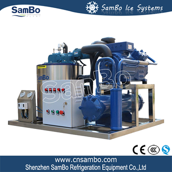 SamBo Industrial 20ft Containerized Mobile Ice Plant Air Cooled 10 Ton Flake Ice Maker Machine For Concrete Mix