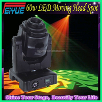Wholesale Supplier White Luminus Lamp 11CH / 14CH LED Moving Head lyre 60w Spot