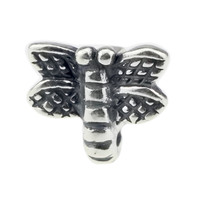 Wholesale Authentic 925 Sterling Silver Summertime Dragonfly Charm For European Bracelet