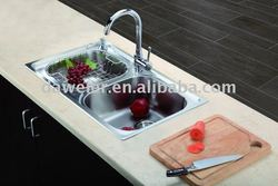 CK225 Stainless steel Double bowl Franke kitchen sinks