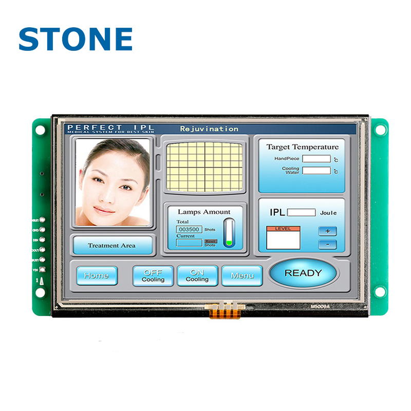 4-wire resistance TFT LCD touch screen module used to CO2 laser equipment