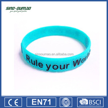 Personalized Custom Cheap Silicone Rubber Wrist Band