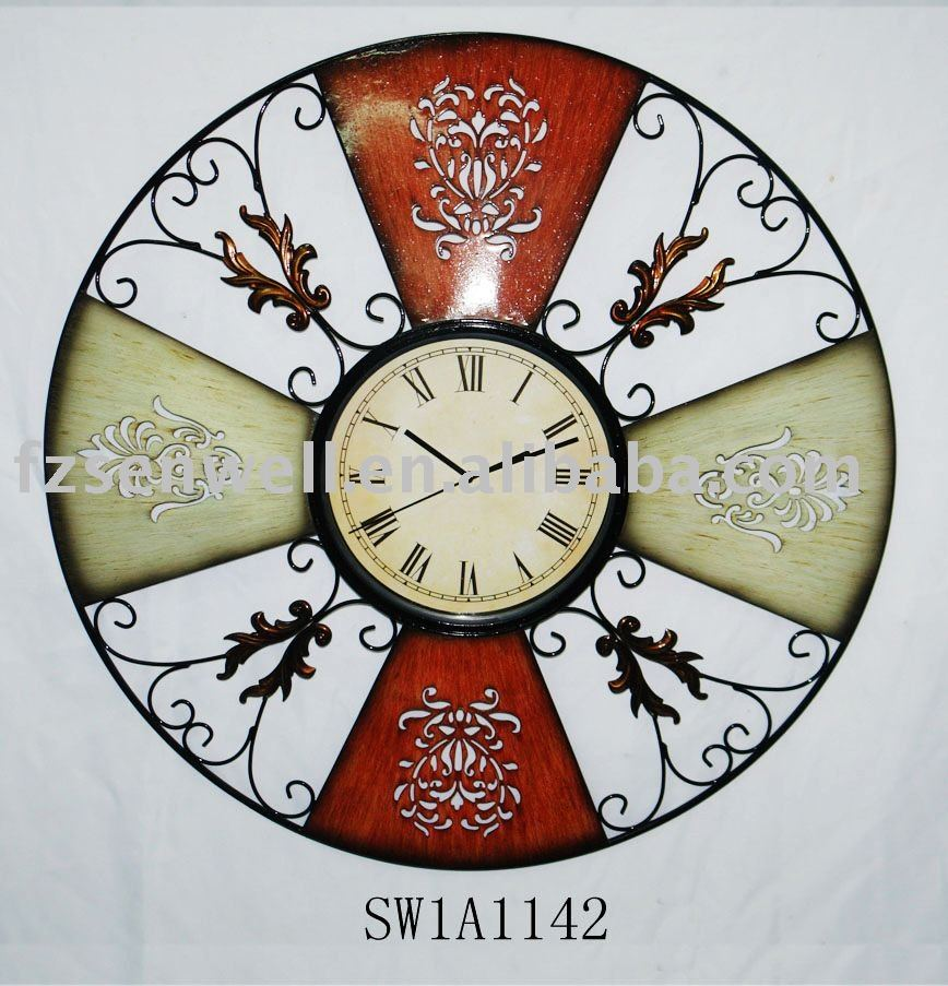 2010 Chinoiserie interior wall clock