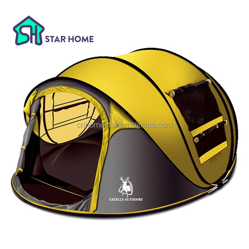 Star home Large throw <strong>tent</strong>!outdoor 3-4persons automatic speed open throwing pop up waterproof beach camping <strong>tent</strong> 2 second open