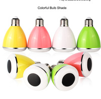 selling well 6W Global Bulb Type and White+RGB Color smart control bluetooth light lamp