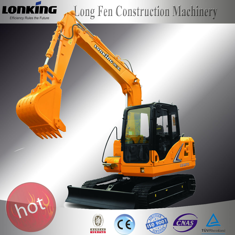 LG6075E chinese excavator for sale Lonking /cat excavator with excator hydraulic hammer