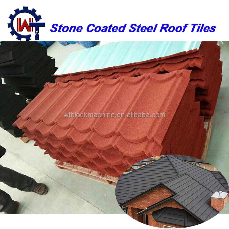 Waterproof/Fireproof Bangladesh stone coated aluminum roof shingles