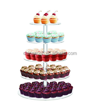 5Tier Acrylic Round Cake Cupcake wedding party Stand Tower Display