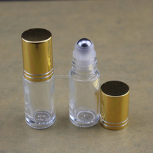 5ml roller ball bottles essential oil bottle for cosmetic oil container with golden lid