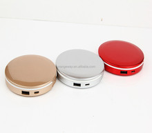 New products Led mirror power bank ,portable charger with led mirror,Mirror Chager pad for phones