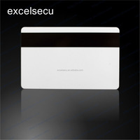 Customized Size Printable PVC Blank Rewritable Magnetic Stripe Smart card Credit Card