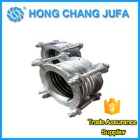 High pressure vibration isolator stainless steel bellows compensator with flange joint