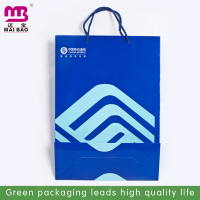 Colorful printing paper bag christmas crafts with led lights