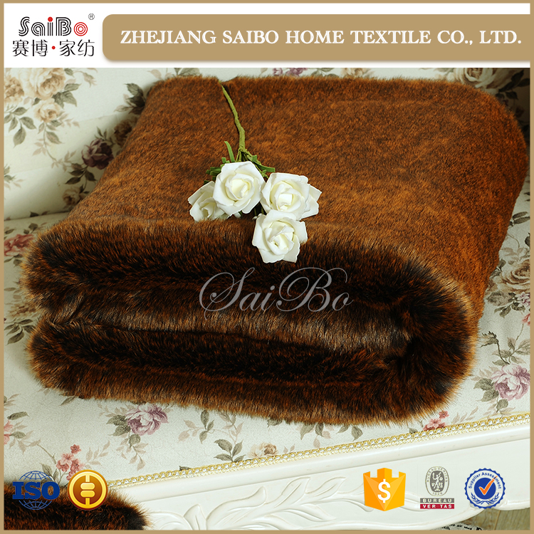 Custom Thick Soft Fake Fur blanket with dog